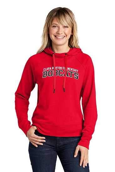 Ladies Lightweight French Terry Pullover Hoodie