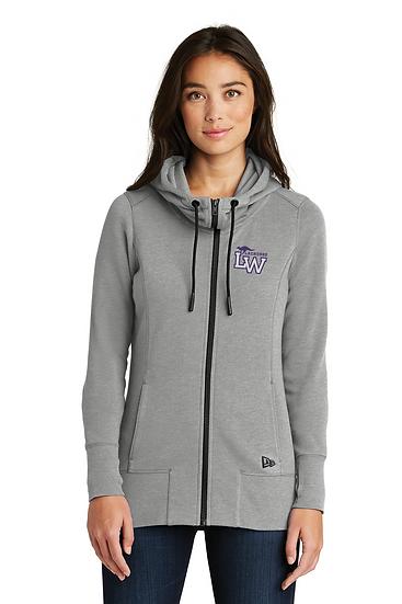 New Era® Ladies Tri-Blend Fleece Full-Zip Hoodie