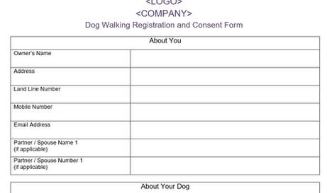 Dog Walking Registration Form