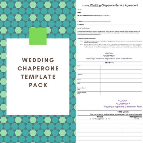 Wedding Chaperone Template Pack