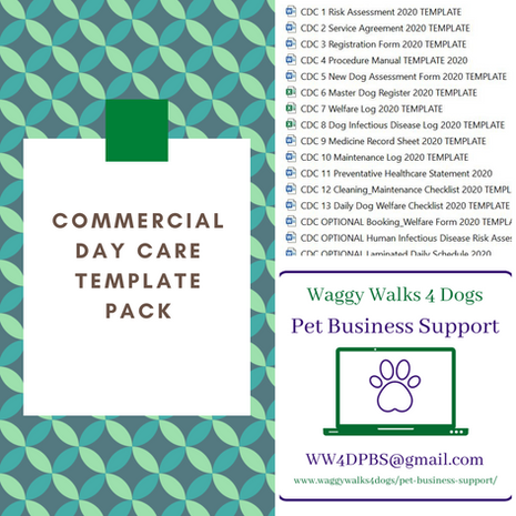 England: Commercial Day Care Template Pack