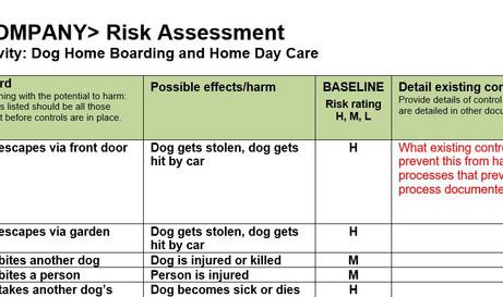 Home Boarding Risk Assessment