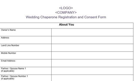 Dog Wedding Chaperone Registration Form