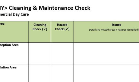 Daily Cleaning and Maintenance Checks Template