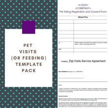 Pet Visits Template Pack