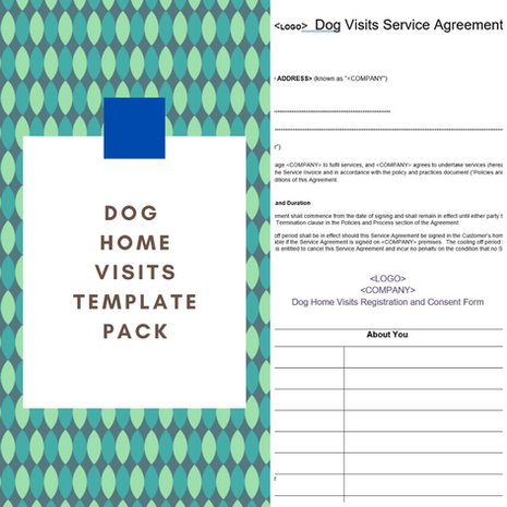 Dog Home Visits Template Pack