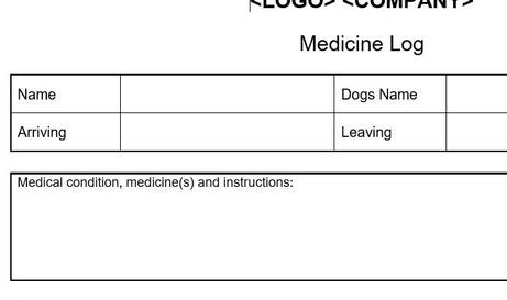Home Boarding Medicine Log
