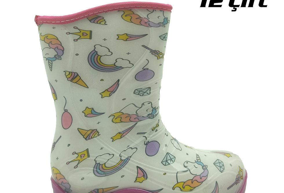 105 - PVC Çocuk Yağmur Çizmesi - Unicorn