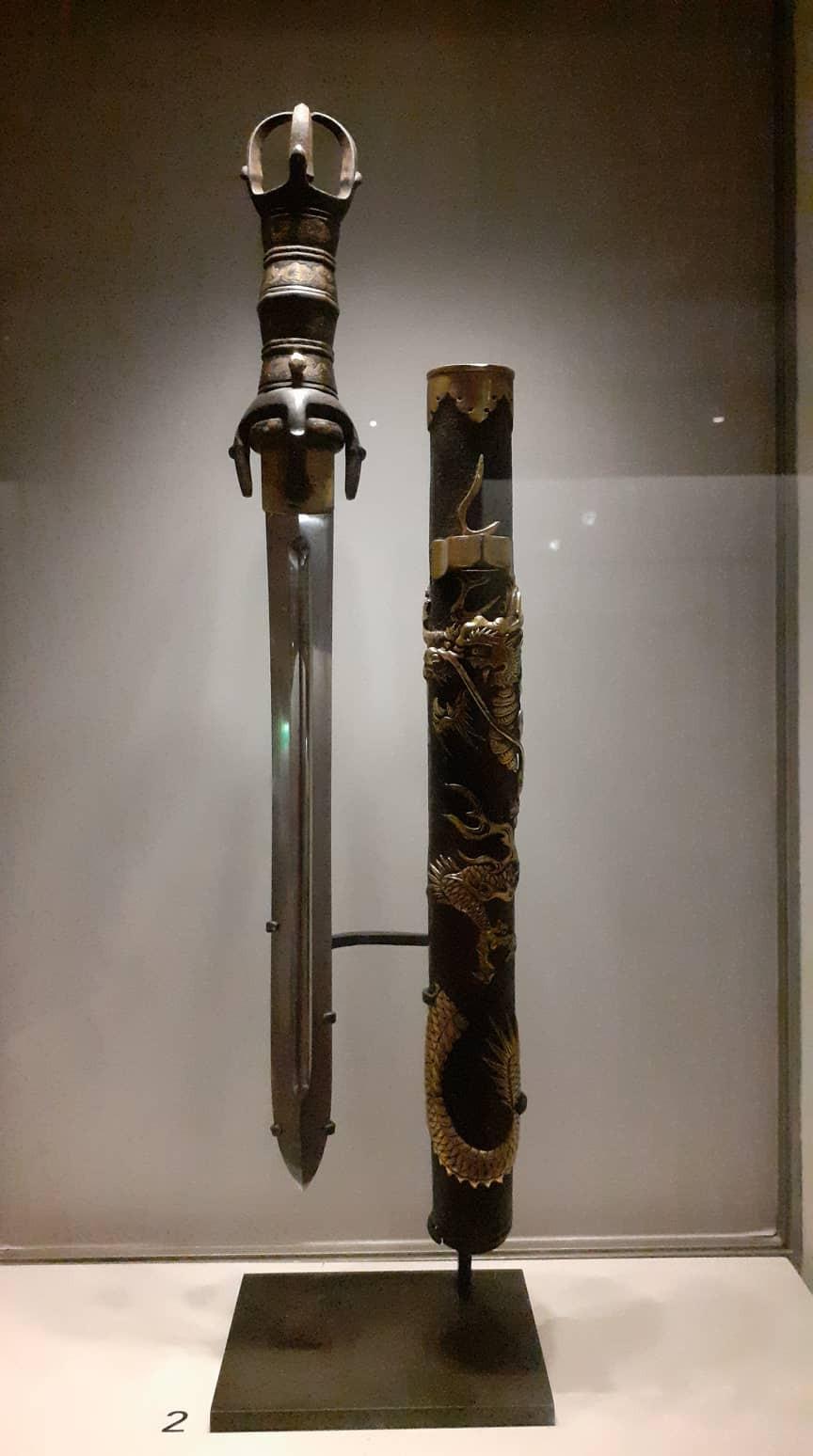 La spada di Fudo (金剛剣, kongō-ken), spada vajra - foto del museo Guimet di arti orientali di Parigi