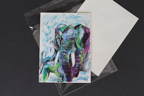 Hand painted one of a kind art card