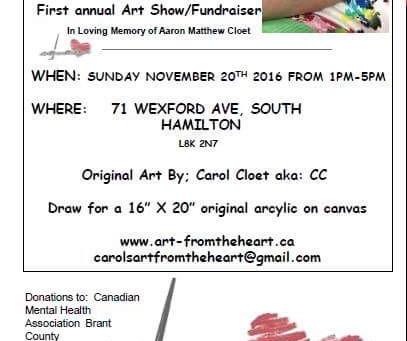 Art Show Fundraiser... 'Aaron's Smile'