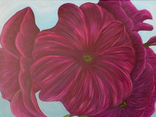 Purple Petunia  18X24C2