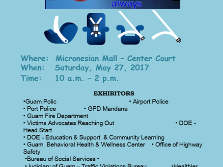 Office of Highway Safety Outreach at the Micronesian Mall for May 27 2017