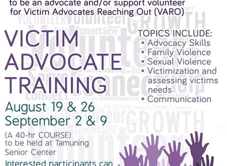 2017 VARO Victim Advocate Training