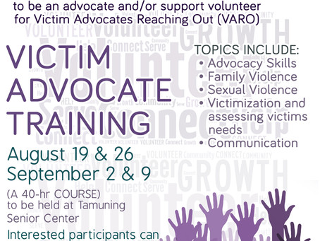 2017 VARO Victim Advocate Training