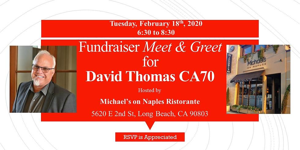 Fundraiser Meet and Greet with David Thomas CA70
