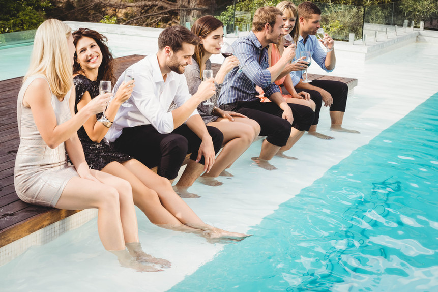 Group Pool Party