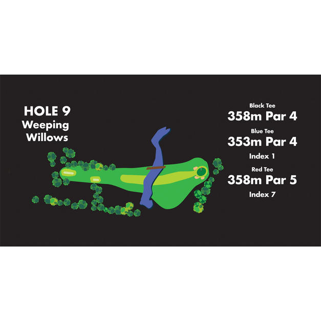 HOLE 9 Weeping Willows