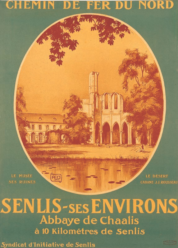 Abbaye de Chaalis, vers 1923