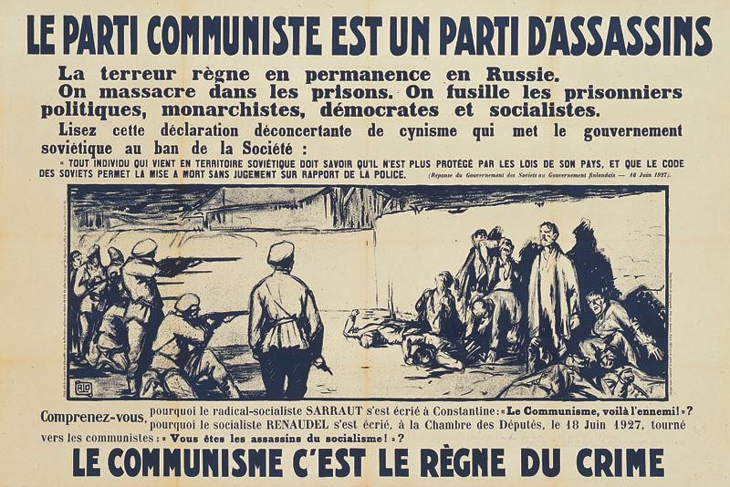 Le parti communiste est un parti d'assassins, entre 1924 et 1928