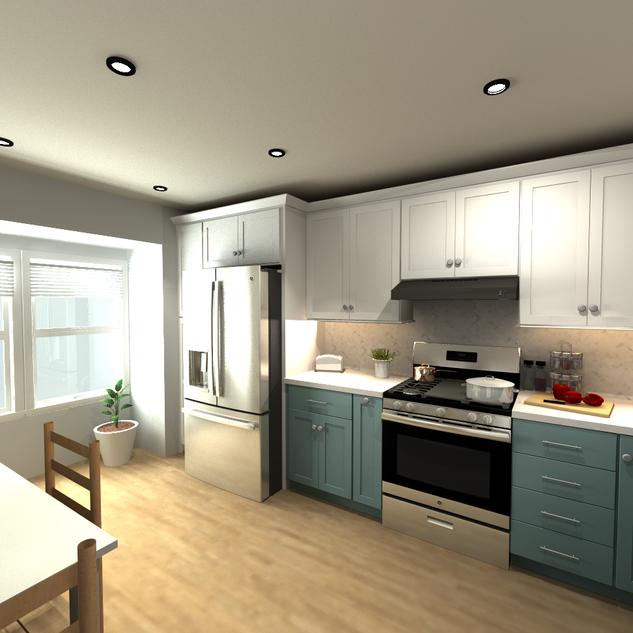 Breeze & White Cabinets Design 1.4 Brown