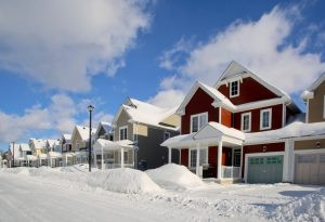 Street Scene After a Heavy Snowfall