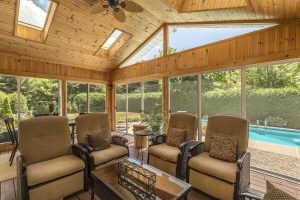 Screened in Wooden porch