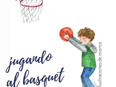 Jugando al basquet