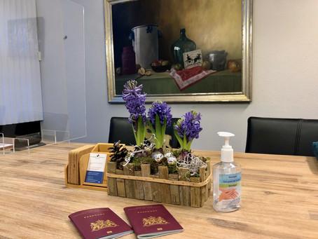 De geur van hyacinten en ontsmettingsmiddel!