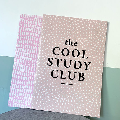 Set Of Two A4 Cool Study Club Notebooks