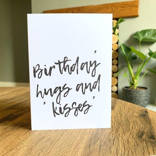 Birthday Hugs & Kisses Card