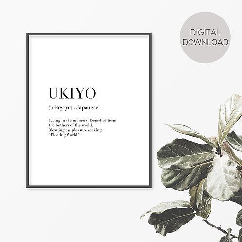 Ukiyo Print