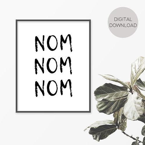 NOM NOM Print