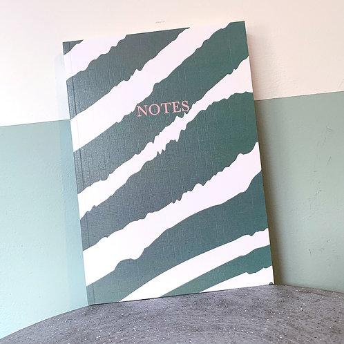 Green Zebra Notebook