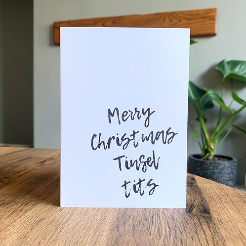 Merry Christmas Tinsel Tits Card