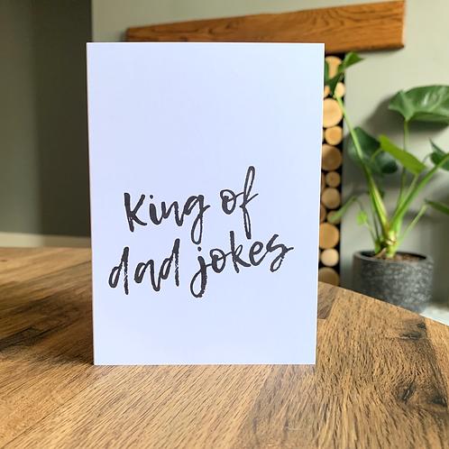 King Of Dad Jokes Caard