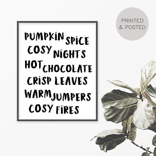 Pumpkin Spice Print