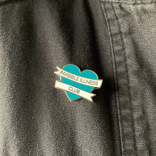 Invisible Illness Club, Teal Enamel Pin