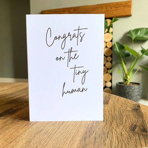 Congrats On The Tiny Human Card
