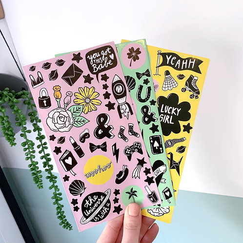 Girl Power Stickers Set Of 3