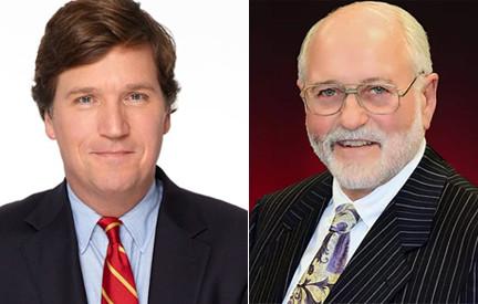 Tucker Carlson and Norman Adams