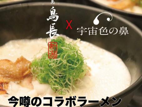 練馬鳥長・新潟 x 宇宙色の鼻 完全無添加、無化調のコラボラーメンが食べられます!!