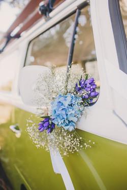 Themed floral arrangement