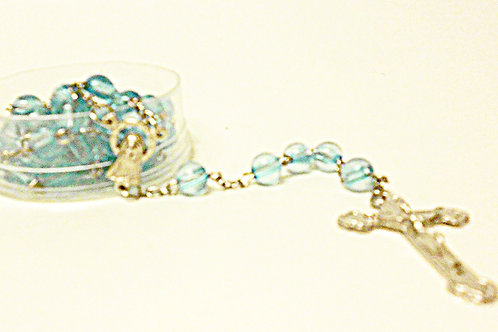 Rosary - Blue/Clear