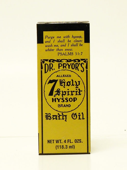 Dr. Pryor's 7 Holy Spirit Hyssop Bath Oil