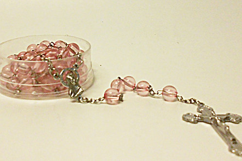 Rosary - Pink/Clear