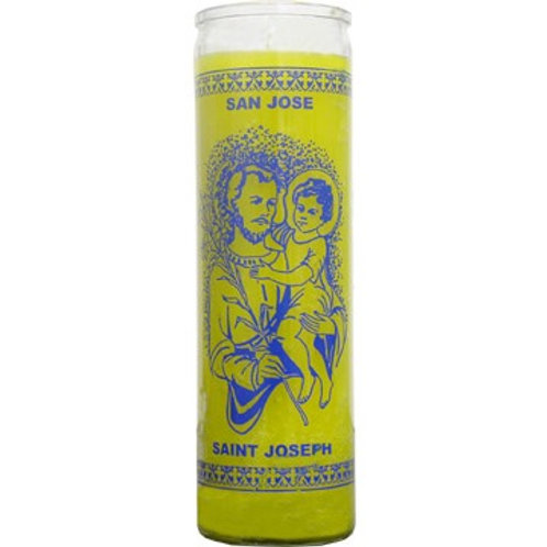 SAINT JOSEPH -7 DAY GLASS CANDLE