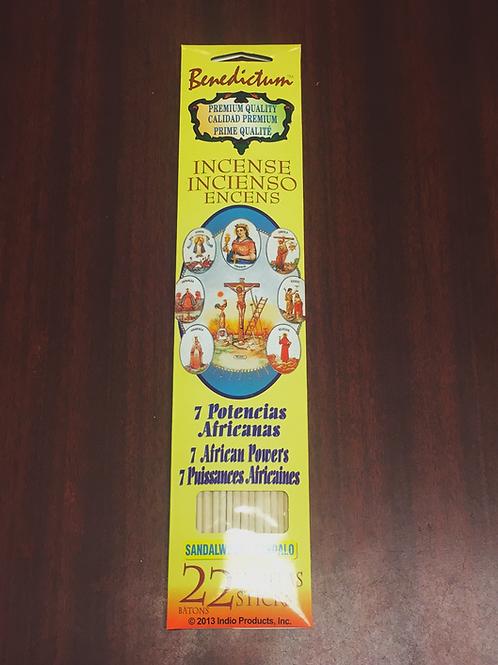 7 African powers incense sticks (22ct) sandalwood