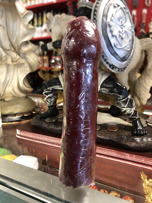 Red penis candle