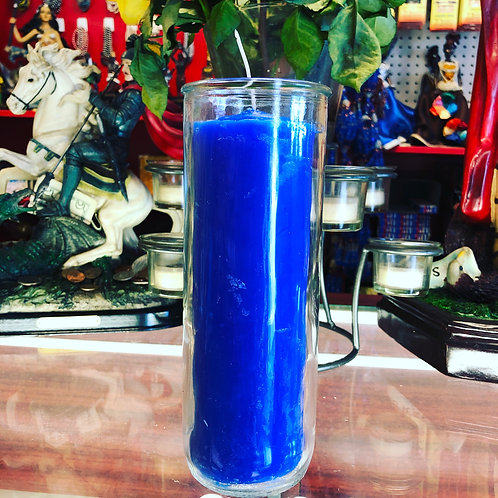 Blue pullout candle